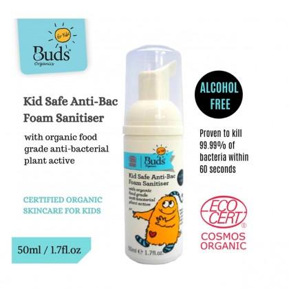 Buds Kid Safe Anti-Bac Foam Sanitiser 50ml