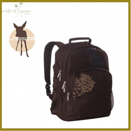 Lassig Casual Backpack - Butterfly Choco Clearance