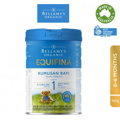Bellamy's Organic Step 1 Equifina Infant Formula 900g