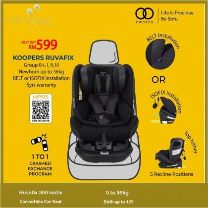 Koopers Ruvafix Isofix Convertible Car Seat