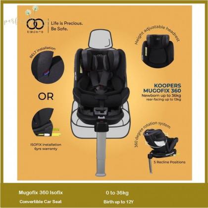 Koopers Mugofix Isofix Convertible Car Seat 0-36kg