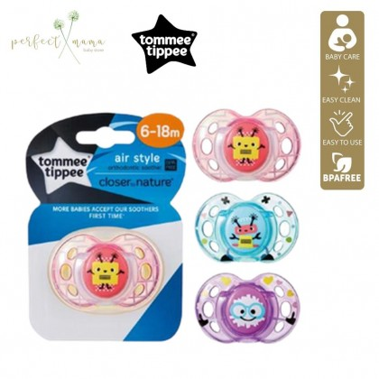 Tommee Tippee Air Soother Single 6-18m