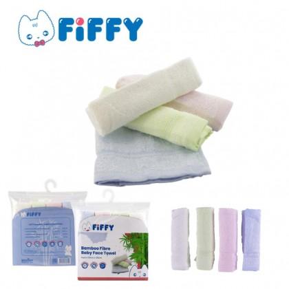 Fiffy Bamboo Fibre Baby Face Towel 4pcs