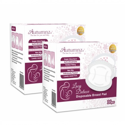 Autumnz Lacy Deluxe Disposable Breastpad 36pc