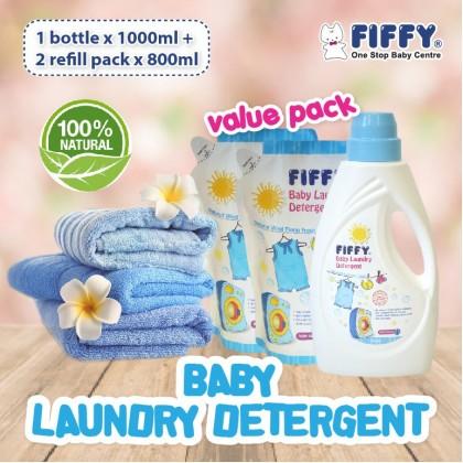 Fiffy Super Value Laundry Detergent ( 1000ml + 2 x 800ml )