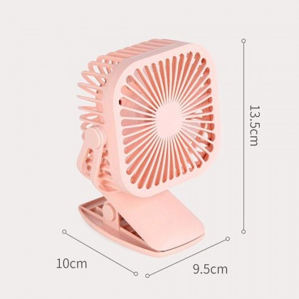 360 Adjust LED Light Mini Clip Fan Cooling USB Charge Kipas
