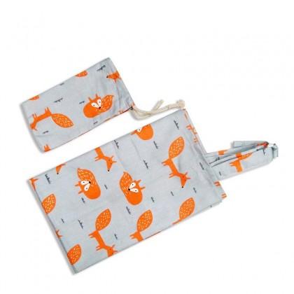 Premium 100% Natural Cotton Nursing Cover Free Bag