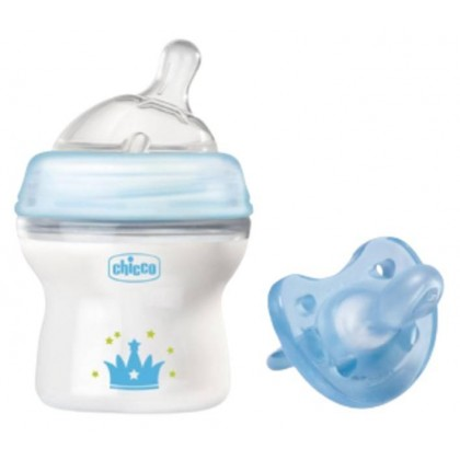 Chicco Natural Feeling Bottle 150ml + Chicco Physio Soft Soother - Limited Edition