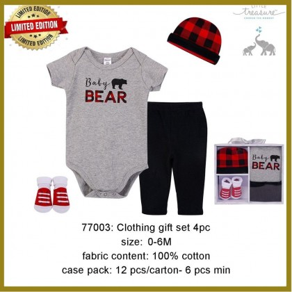 Little Treasure Clothing Gift Set 4pc - LT77003