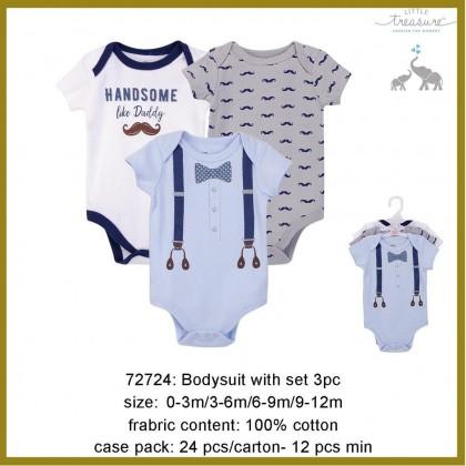 Little Treasure Bodysuit Set 3pc - 72724