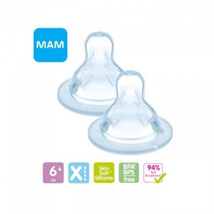 MAM Silk Teat Twin Pack