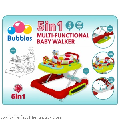 Bubbles 5 in 1 Learn 2 Walk Walker Carnival